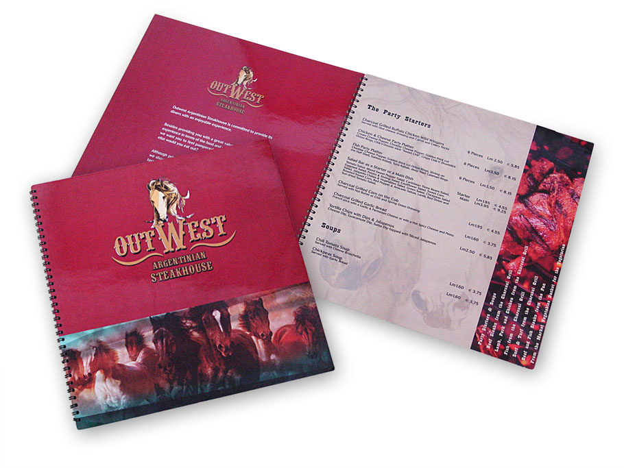Outwest Argentinian Steakhouse Menu