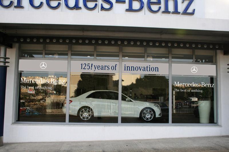 Mercedes Benz Showroom Computer Cut Signage