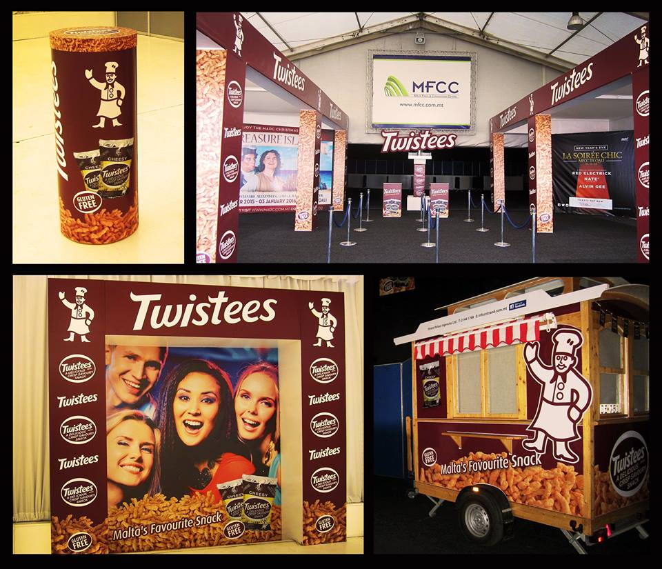 Twistees Promotional Stand Signage